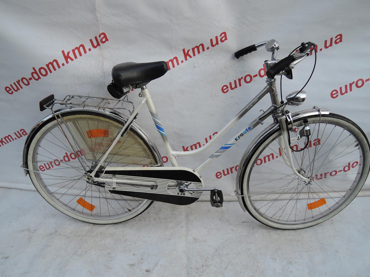 Городской велосипед Krauter 28 колеса 3 скорости на планетарке