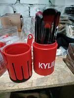 Набор кистей косметических Kylie в тубусе 12 предметов, фото 2