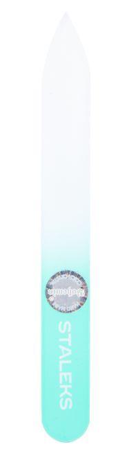 Пилочка для ногтей хрустальная Сталекс 90 мм. бирюзовая