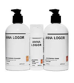 Набор косметики Базовый уход Anna LOGOR Oil Control + Serum для жирной кожи лица Art.201 234