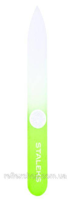 Пилочка для ногтей хрустальная Сталекс 90 мм. салатовый