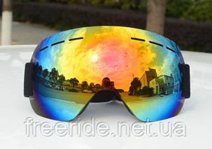 Лижна маска безрамна, окуляри для сноуборду, фото 2