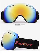 Лыжная маска безрамная, очки для сноуборда, фото 2