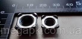 Гайка нержавіюча М10 квадратна приварная DIN 928, сталь А2, А4.