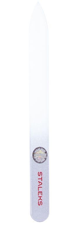 Пилочка для ногтей хрустальная Сталекс 120 мм. серебро