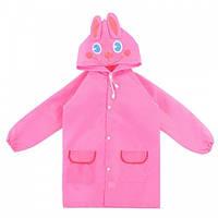 Детский дождевик Кролик, дождевой плащ для девочек, ветро и водозащитный, HS0008