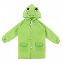 Детский дождевик Лягушенок, дождевой плащ для девочек мальчиков, ветро и водозащитный, HS0009