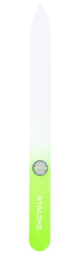 Пилочка для ногтей хрустальная Сталекс 140 мм. салатовый