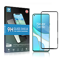 Защитное Full Glue стекло Mocolo OnePlus 8T (Black) - 5D Полная поклейка