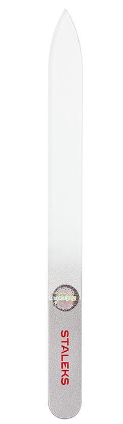 Пилочка для ногтей хрустальная Сталекс 140 мм. серебро