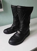Кожаные высокие мотоботинки мото боты женские 38р, фото 2