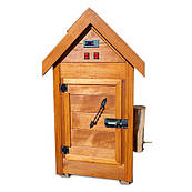 Деревянная коптильня холодного и горячего копчения Drevos Мини 1.0 (до 10 кг)