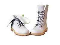 Женские ботинки Timberland Teddy Fleece China Grey с мехом (реплика)