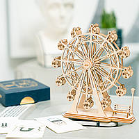 3D-пазл конструктор Robotime колесо «Robotime Ferris Wheel TG401» Подарки на день рождения и Рождество
