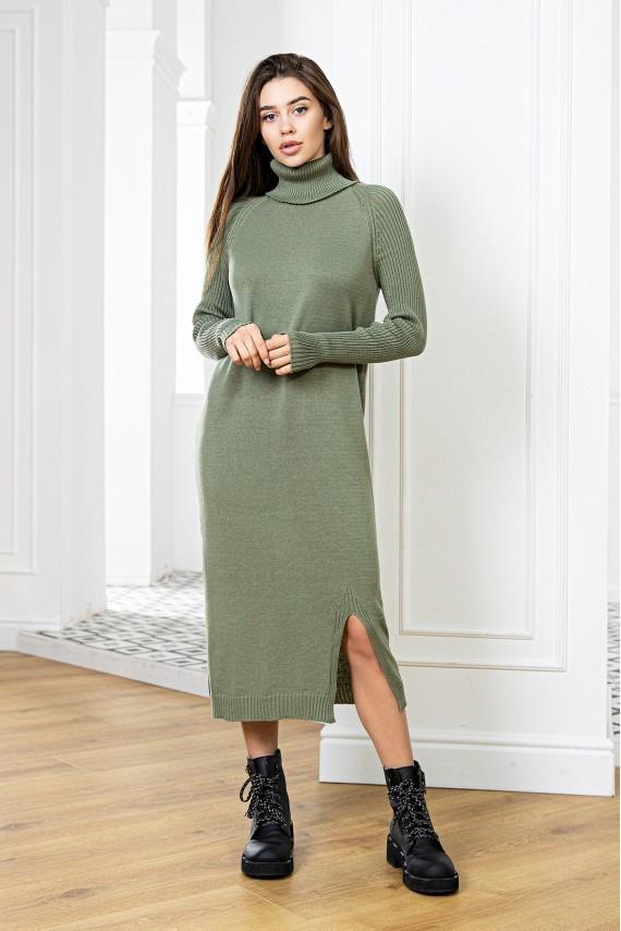 Модное вязаное молодежное платье оверсайз 44-46-48 размер 12цветов
