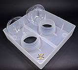 Кормушка квадратная с двумя стаканами 1.6л, фото 5