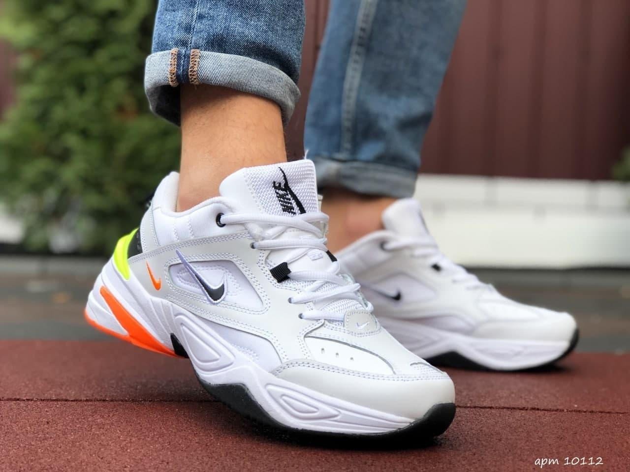 Кроссовки Nike M2K Tekno  белые с оранж 41 42 43 44 45 46