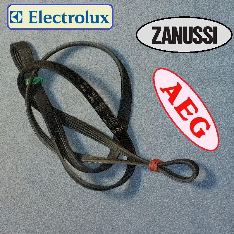 """Ремень чёрный """"Hutchinson"""" 1280 PJE  (EPJ / EL/ MAEL) Zanussi, Electrolux, AEG, Привилег и ..."""
