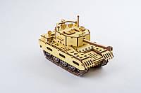3D-пазл конструктор ekoGOODS «Танк» Военная техника деревянные конструкторы