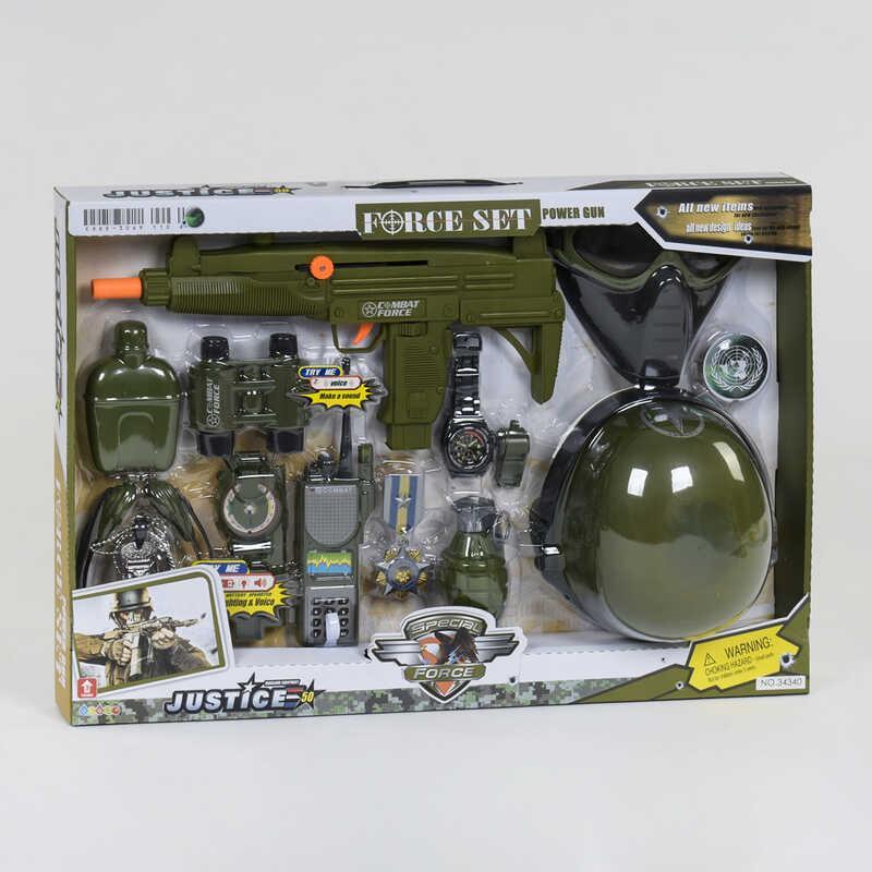 Детский игровой набор военного звук.эффекты
