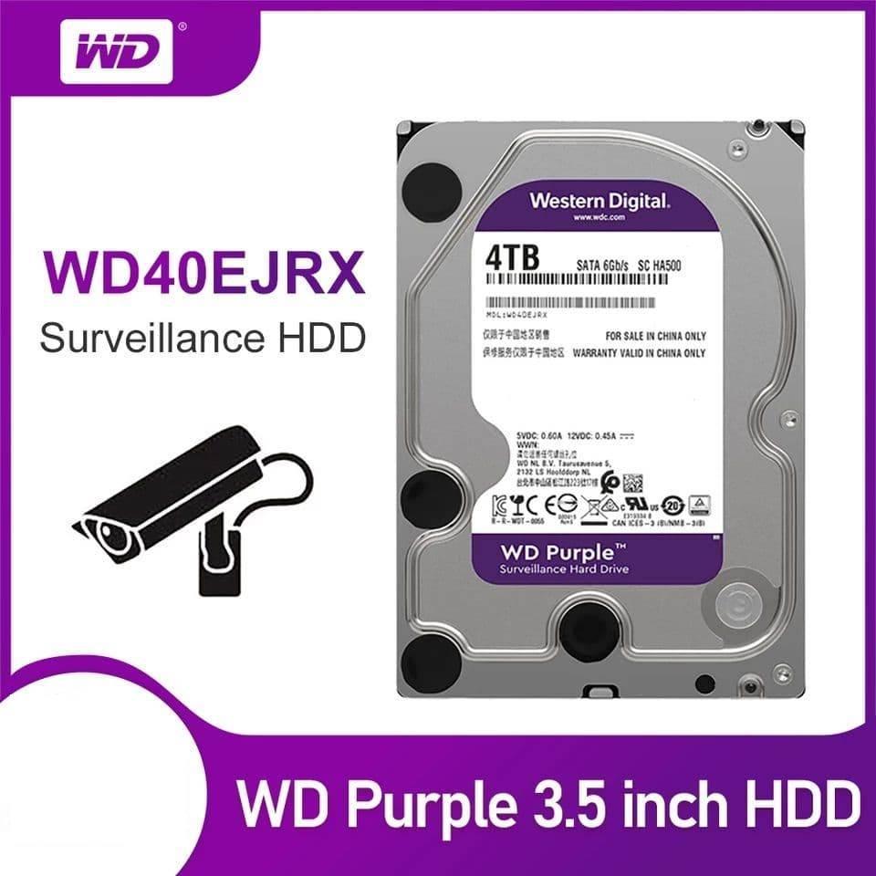 Жесткий диск Western Digital WD Purple WD40EJRX 4TB для систем видеонаблюдения