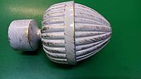 Карнизы кованые -наконечник Одеон белое золото 25мм