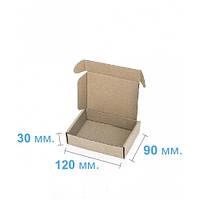 Коробка для подарка самосборная плоская (120 x 90 x 30), бурая
