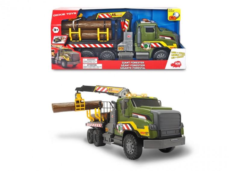 """Лесовоз Машинка """"Лесник"""" с манипулятором, со звук. и свет. эффектами, длина 54 см, 3+ , Dickie Toys 3749026"""