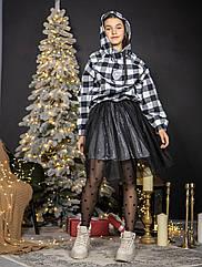 Красивый комплект для девочек - платье , юбка и свитшот TM Madlen Размеры 140, 146