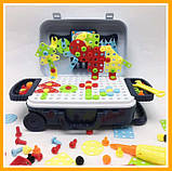 Игровой набор детский конструктор в чемодане болтовая мозаика PAZZLE interest assemble toy 137 PCS, фото 2