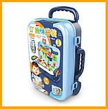 Игровой набор детский конструктор в чемодане болтовая мозаика PAZZLE interest assemble toy 137 PCS, фото 3
