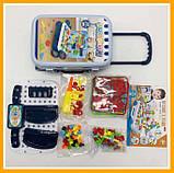 Игровой набор детский конструктор в чемодане болтовая мозаика PAZZLE interest assemble toy 137 PCS, фото 8