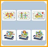 Игровой набор детский конструктор в чемодане болтовая мозаика PAZZLE interest assemble toy 137 PCS, фото 9