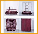 Складаний тканинний шафа Storage Wardrobe 88130 175х130х45 см коричневий, фото 4