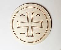 Деревянный щит викинга d35
