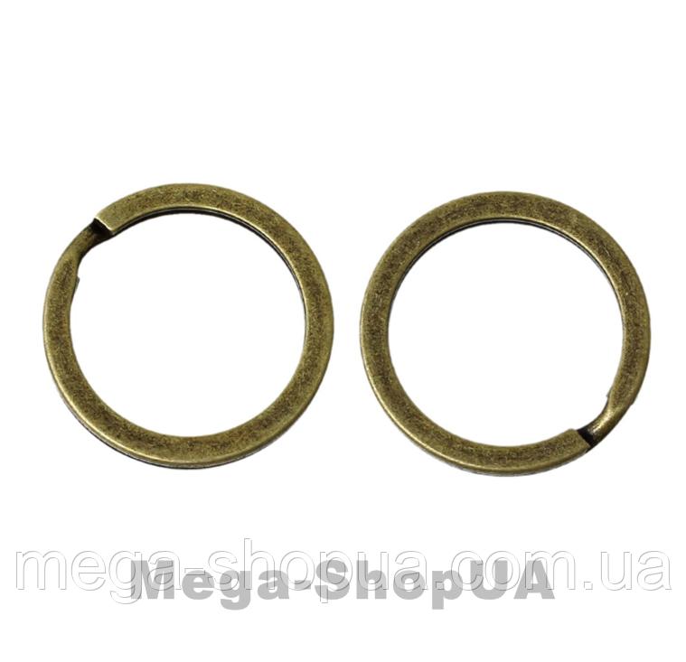 Кольцо для ключей 2 штуки 30 мм / 2 мм Bronze
