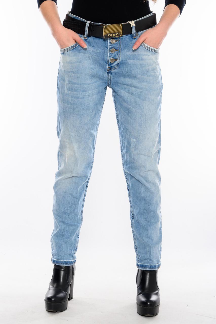 Бойфренды джинсы женские Jass 212 голубые