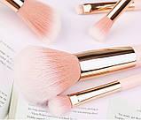 Набор кистей для макияжа 12 шт Zoreya Nude, фото 4