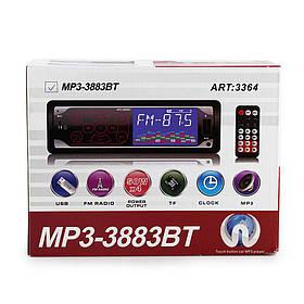 Автомагнітола MP3 3883BT Iso, 1DIN сенсорний дисплей