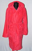 Женский махровый короткий халат