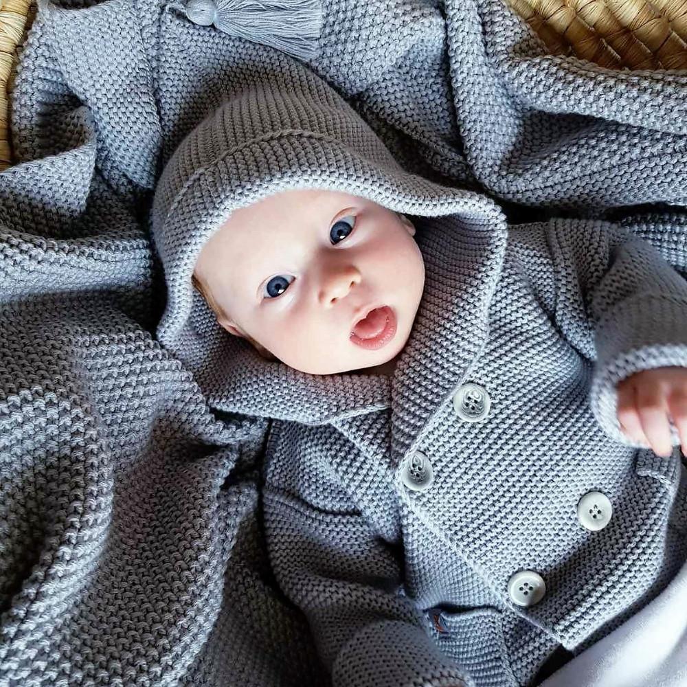Кардиган Сірий дитячий з капюшоном HappyLittleFox