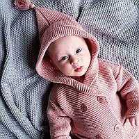 Кардиган Рожева пудра дитячий з капюшоном HappyLittleFox, фото 1