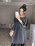 Женское нарядное платье на новый год с люрекса с сеткой и кружевом яркое красивое 46-48 50-52 54-56, фото 2