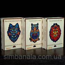 Фигурные деревянные пазлы формат А3, в деревянной коробке