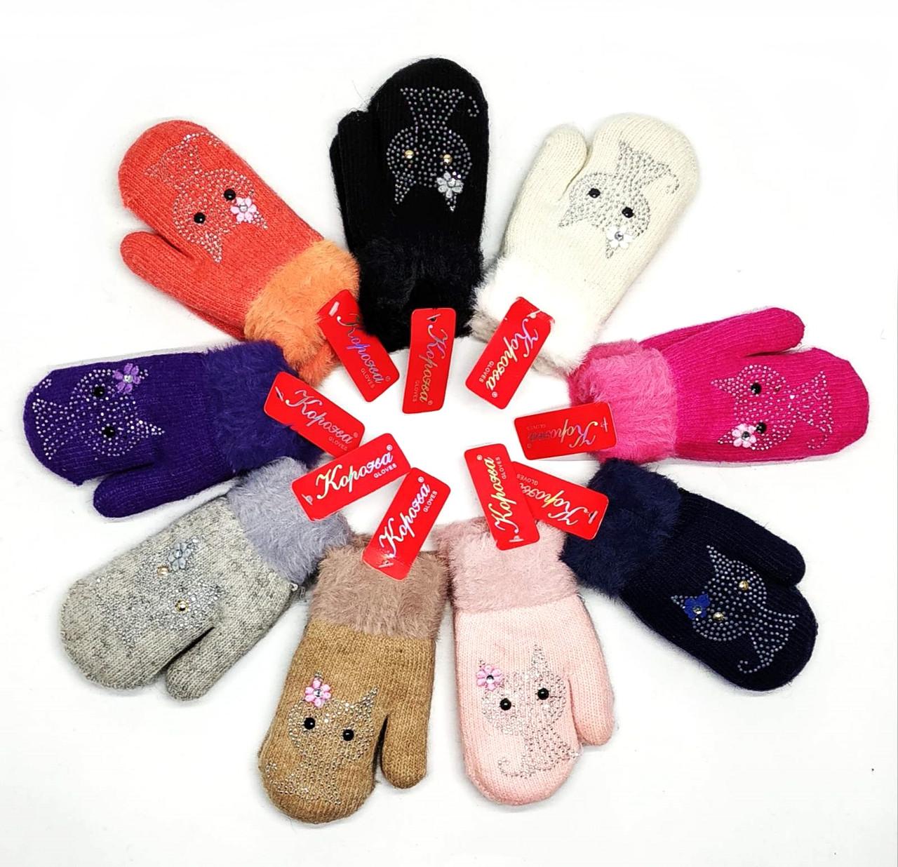 Перчатки - варежки детские  Корона
