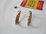 Сережки з фіанітами 2.89 грама Золото 585 проби, фото 4