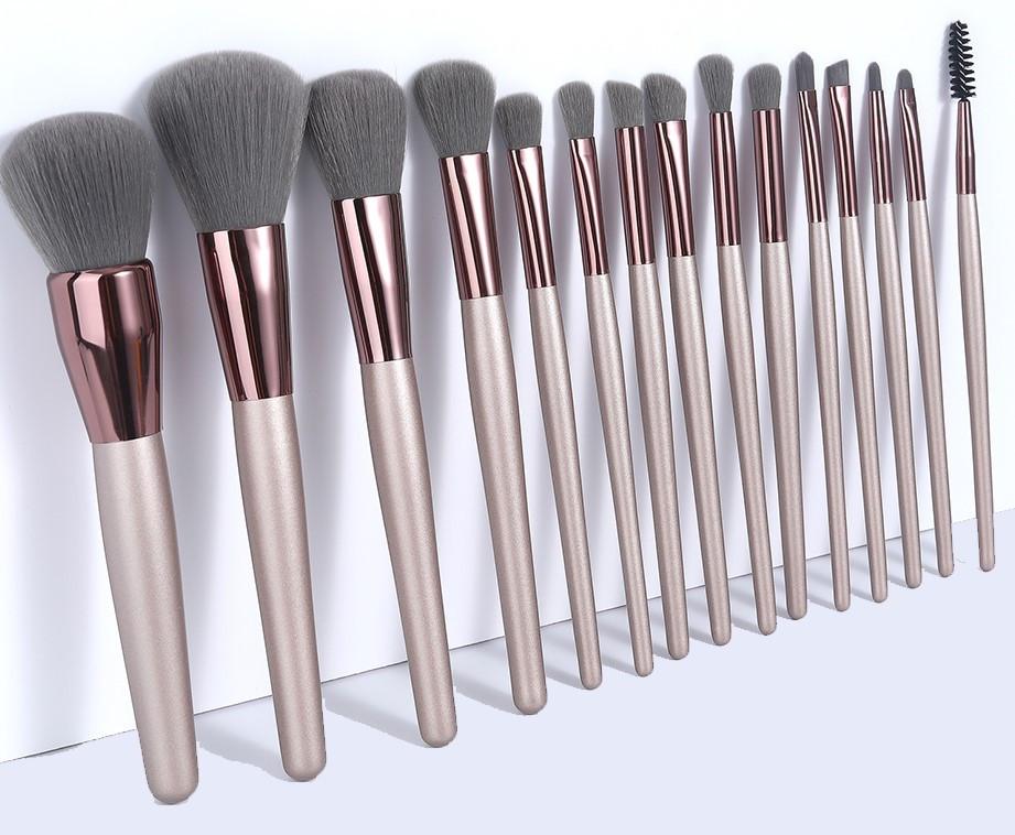 Набор кистей для макияжа 15 шт