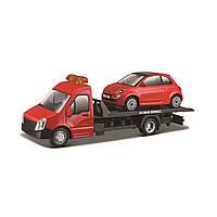 Игровой набор Bburago Автоперевозчик C Автомоделью Автомоделью Fiat   18-31402