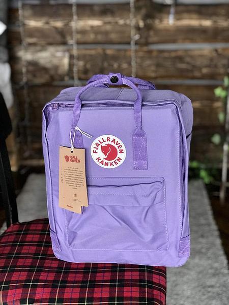 Рюкзак-сумка канкен Fjallraven Kanken classic 16 сиреневый женский, школьный, городской, подростковый