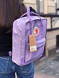 Рюкзак-сумка канкен Fjallraven Kanken classic 16 сиреневый женский, школьный, городской, подростковый, фото 8